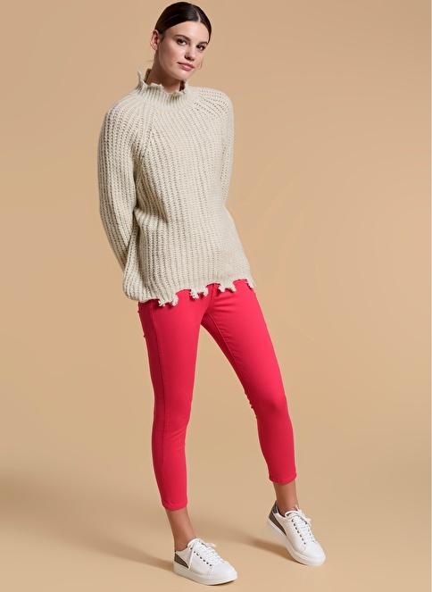 Fashion Friends Slim Fit Pantolon Fuşya